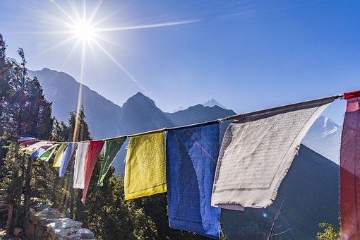 Religion, Prayer, Gebedsvlag, Flag, Nepal, Buddhism