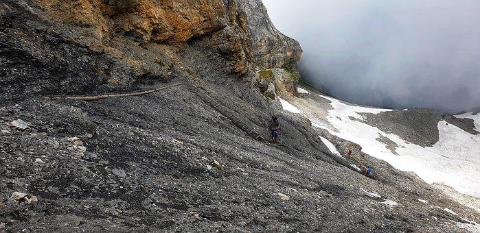 Alpine, Mountain Trail, Steep, Hiking, Rock, Mountains