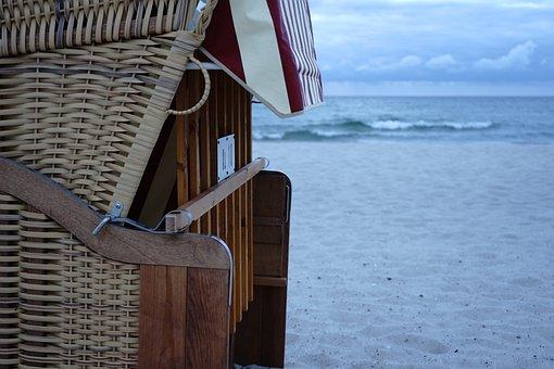 Beach Chair, Sea, Sand, Beach, Baltic Sea, Coast, Water