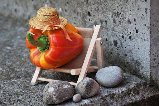 Paprika, Diet, Fit, Slimming, Healthy, Summer, Concrete