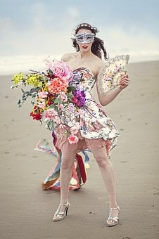 Spring Equinox, May Flowers, Womens Day, Spring, Girl