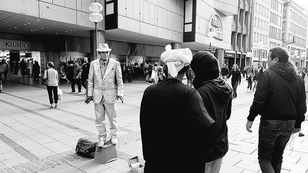 Street Photography, Street Art, Pedestrian Zone, Human