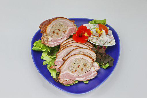 Stuffed, Food, Roast Pork, Salad, Refreshments, Dining