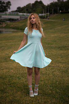 Fluttering Dress, Woman, The Hem Of The Dress, Emotions