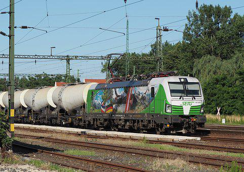 Locomotive, Train, Rail, Vectron, Transport