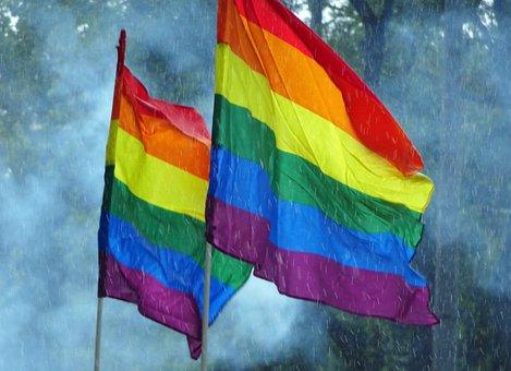 Rain, Rainbow Flag, Csd, Lsgbti, Lesbian, Gay, Trans