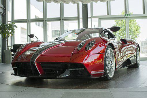 Pagani, Huayra, Auto, Sports Car, V12, Italy, Red