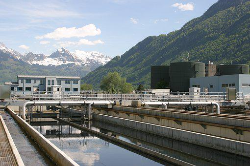 Sewage Plant, Switzerland, Wastewater Treatment