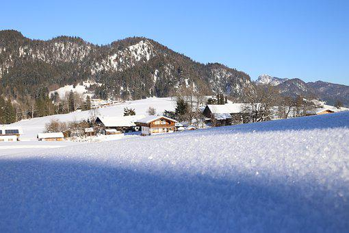 Snow, Alpen, Austria, Mountains, Lighting, Mood, Hiking