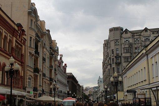 Moscow, Street, Russia, Historical, Arbat Street