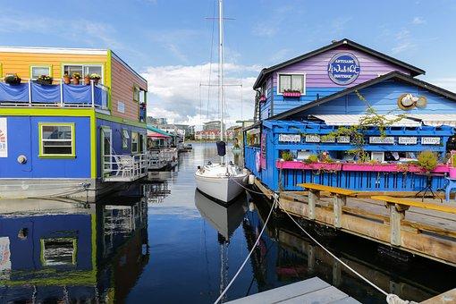 Canada, Vancouver Island, Victoria, Water, Architecture