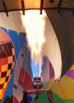 Flame, Burner, Hot Air Balloon, Drive, Flying, Basket