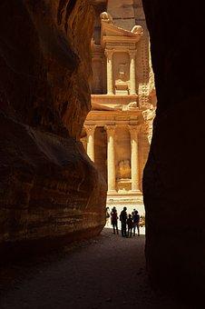 Petra, Jordan, Canyon, Architecture, Landmark, Desert