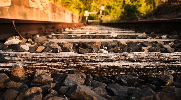 Gleise, Railway Line, Rails, Buffer Stop, Railway