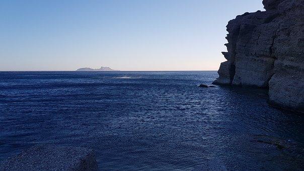 Greece, Crete, Agia Galini, Landscape, Water, Island