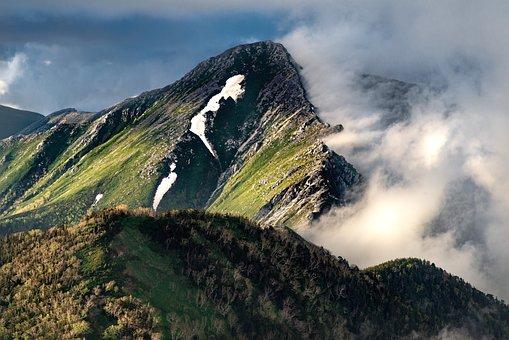 Landscape, Mountain, 常念岳
