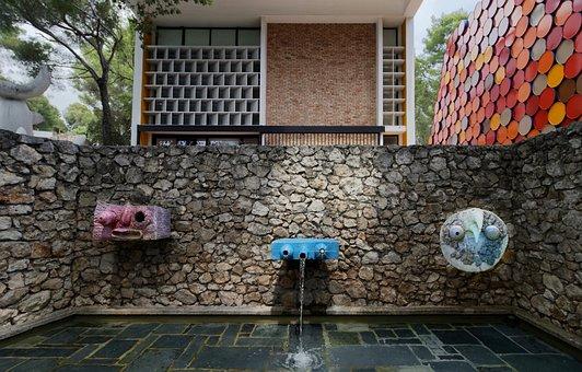 Fountain, Art, Sculpture, Water, Architecture, Pierre
