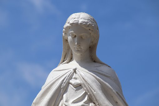 Statue, Sculpture, White, Pure, Virgin Mary, Monument
