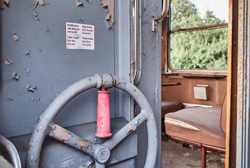 Hand Brake, Train, Old, Railway, Rail Traffic, Travel