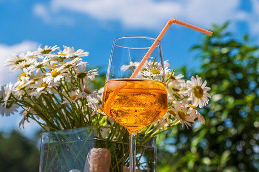 Glass, Drink, Orange, Summer, Refreshment, Liquid