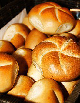 Roll, Kaiser Roll, Crispy, Baked Goods, Breakfast