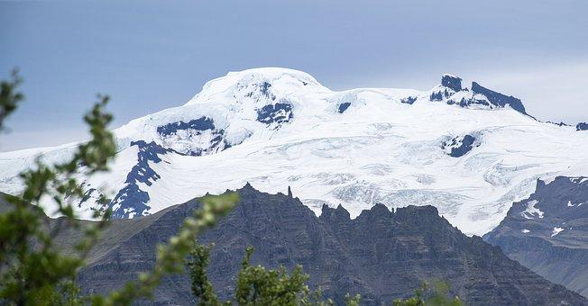 Iceland, Skaftafell, Mountain, Glacier, Sunny, Hiking