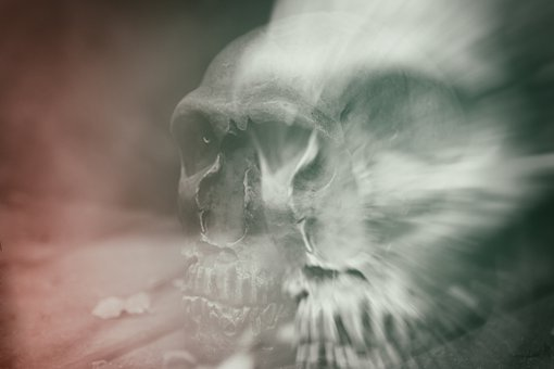 Skull And Crossbones, Double Exposure, Death, Skull