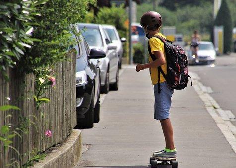 Skateboarding, Boy, The Silhouette, Holidays, Street