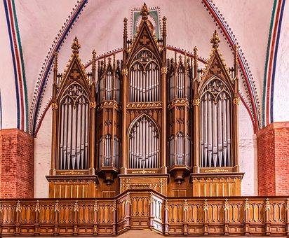 St Mary's Church, Organ, Greifswald, Wood, Metal