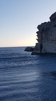 Greece, Crete, Agia Galini, Sea, Stones