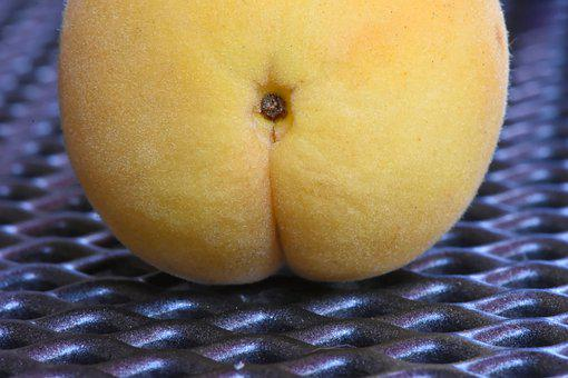 Apricot, Fruit, Butt, Funny, Fresh, Healthy, Food