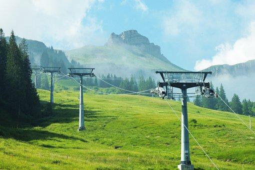 Damüls, Austria, Mountains, Skiing, Resort, View