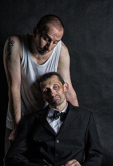 Gangster, Boss, Men's, Men, Interrogation, Hardness