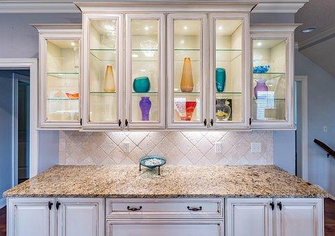 Cabinet, Lights, Kitchen, Island, Lighting, Interior