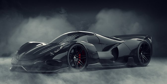 Black, Car, Concept, Vehicle, Auto, Speed