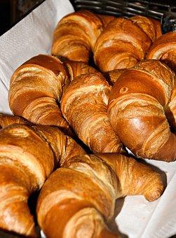 Croissant, Pastries, Breakfast, Baked Goods, Bakery