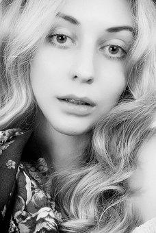 Portrait, Girl, Studio, Female, Woman, Profile, Nose