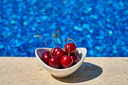 Cherry, Pool, Hotel, Fruit, Food, Delicious, Healthy