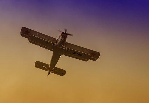 Double Decker, Aircraft, Historically, Flying, Sky, M17