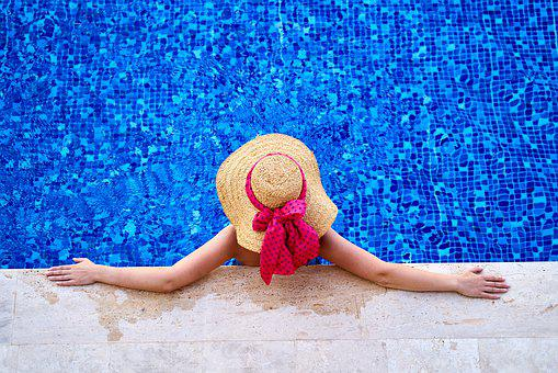 Woman, Holiday, Hat, Summer, Girl, Marine, Water