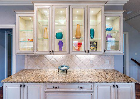Cabinet, Lights, Kitchen, Island, Lighting, Interior