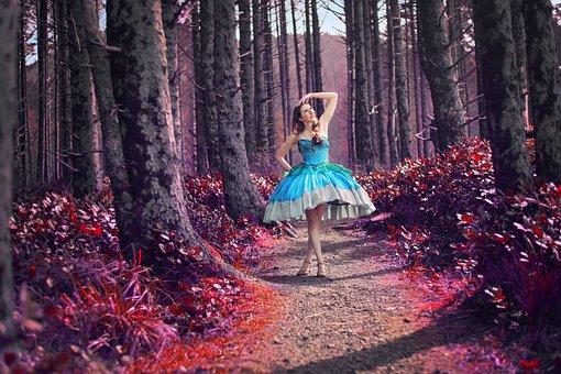 Princess, Forest, Fantasy, Trail, Landscape, Nature