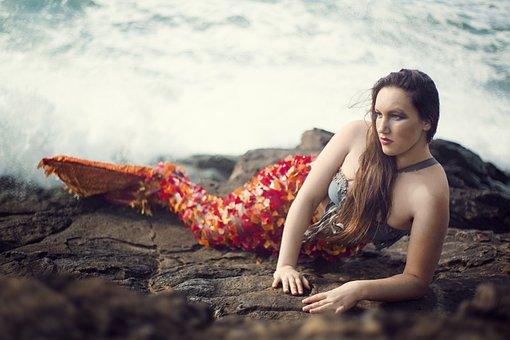 Mermaid, Woman, Sea, Girl, Mystical, Mermaids