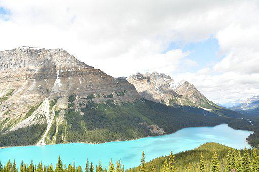 Peyto Lake, Beautiful Water, Canadian Rockies, Na