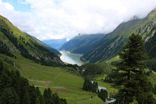 Mountains, Landscape, Valley, Lake, Nature, Hiking