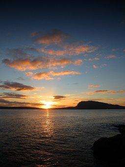Faroe Islands, Sunrise, Landscape, Ocean, Nolsoy