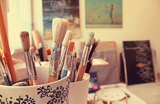 Brushes, Art, Painting, Wall, Paint, Studio, Brush