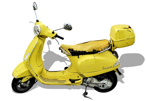 Photomontage, Vespa, Retro Car, Roller, Motor Scooter