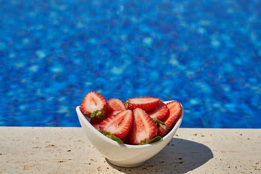 Strawberry, Pool, Fruit, Food, Delicious, Healthy