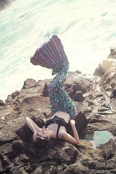 Mermaid, Fantasy, Girl, Sea, Woman, Water, Female